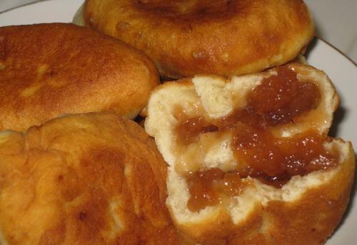 Жареные пирожки с повидлом на сковороде пошаговый рецепт с фото