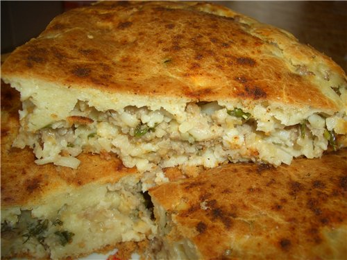 Заливной пирог с мясом рецепт с фото